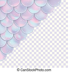element., tarjeta, fondo., holographic, sirena, decoración, transparente, escalas