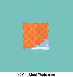 Elemento de tela plana. Ilustración de vectores de toalla de icono plano aislada en antecedentes limpios. Puede ser usado como simbolos de toalla, limpia y de tela.