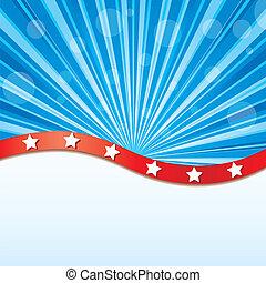 elementos, bandera de los e.e.u.u, ilustración, vector, plano de fondo