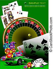 Elementos casino. Vector ilustrado