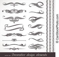 Elementos de decoración de vectores y decoración de páginas