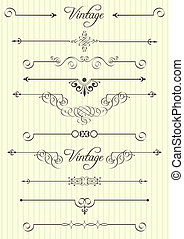 Elementos de diseño calígrafico y decoración de páginas