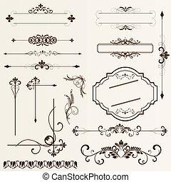 Elementos de diseño calígrafico y pa