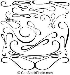 Elementos de diseño calígrafo
