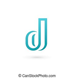 Elementos de diseño de icono de Letter D