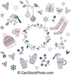 Elementos de diseño de invierno
