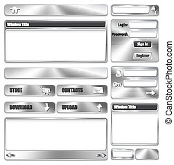 Elementos de diseño de la página metallica