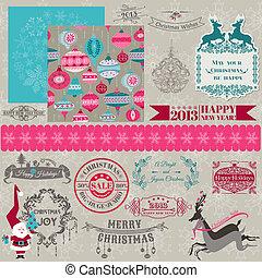 Elementos de diseño de manuales - Feliz Navidad y Año Nuevo - en vector