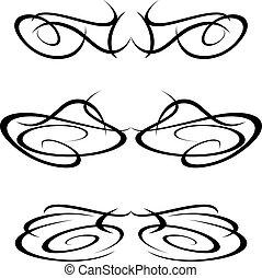 Elementos de diseño de tatuajes tribales