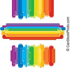 Elementos de diseño del arco iris. Graficos vectores