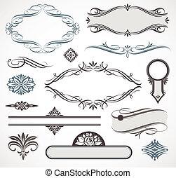 Elementos de diseño del vector y decoración de páginas