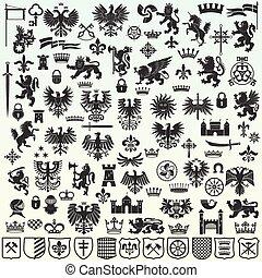 Elementos de diseño heráldicos