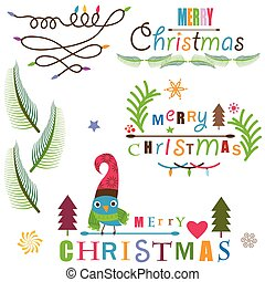 Elementos de diseño navideños