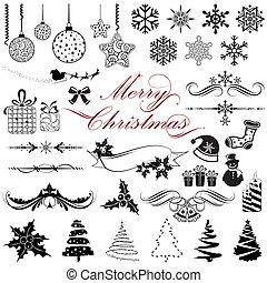 Elementos de diseño para Navidad