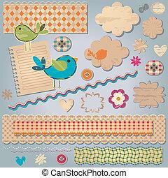 Elementos de diseño texturados