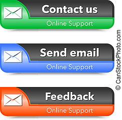 Elementos de diseño web de soporte en línea