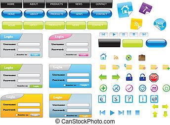 Elementos de diseño Web vector Eps8