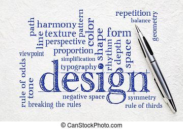 Elementos de diseño y reglas de la palabra nube