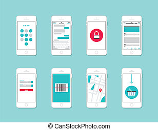 Elementos de interfaz de aplicación de teléfono inteligente
