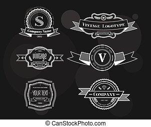 Elementos de logotipo del vector Hipster