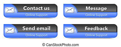 Elementos de soporte en línea