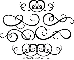 elementos decorativos caligráficos.