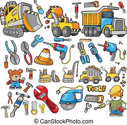 Elementos del vector de construcción