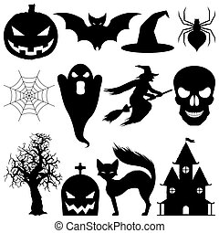 Elementos del Vector Halloween.