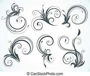 Elementos florales decorativos
