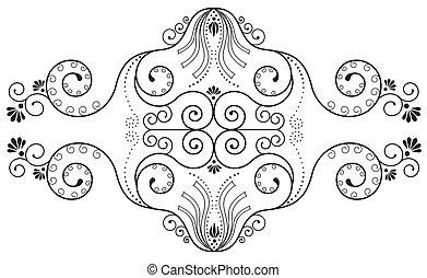 Elementos florales en blanco. Vector Ornato