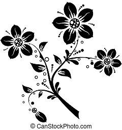 Elementos florales para diseño, vector