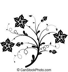 Elementos florales para el diseño, vector