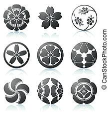 Elementos gráficos Sakura