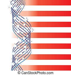 elementos, ilustración, plano de fondo, estados unidos de américa, vector, bandera