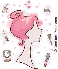 elementos, maquillaje