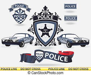Elementos policiales, vector