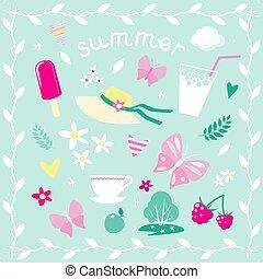 Elementos vectoriales en el tema del verano