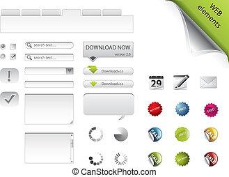 Elementos Web, formas, botones y placas