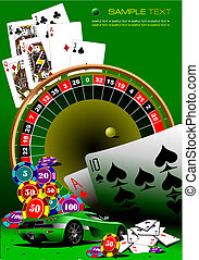 elements., casino, vector, illustrati