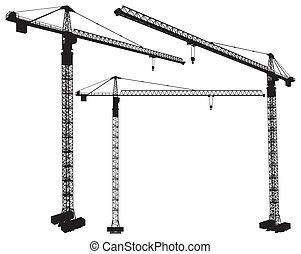 Elevando la grúa de construcción