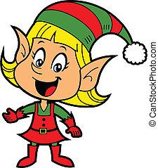 Elfo navideño