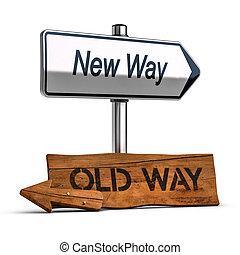 Eligiendo la mejor manera, concepto de desarrollo personal