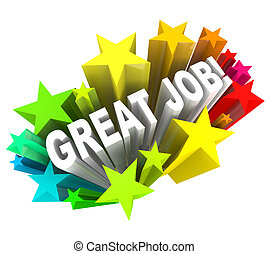 elogio, grande, meta, exitoso, realizado, trabajo, palabras