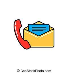 email, icono, información, teléfono, confidencial, número
