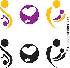 embarazo, maternidad, símbolo.