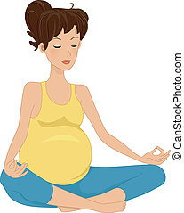 embarazo, meditación