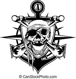 Emblem cráneo pañuelo
