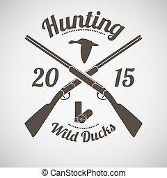 emblema, caza