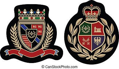 emblema, moda, insignia