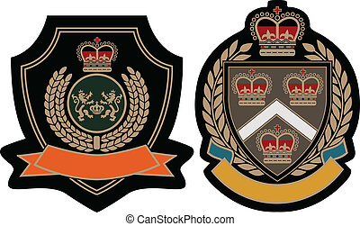 emblema real, protector, académico